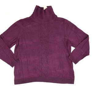 CJ Banks Plus 2X Purple   Sweater Cotton Solid